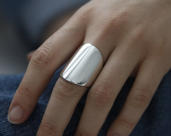 THOR Wide Cuff Ring Sterling Silver by jac&hugo Australia
