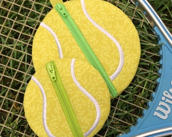 In the Hoop Tennis Ball Pouches Set Machine Embroidery Design Files Instant Download