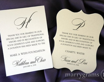 how to ask for charity donations instead of wedding gifts