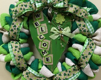St. Patricks Day Wreath, St. Pattys Day Wreath