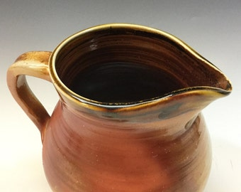 Brown Pitcher - Pitcher Vase - Rustic Pitcher - Wood Fired - Handmade Pottery