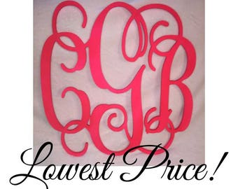 2 Pack Wooden Monogram SALE 24 Inch - Unfinished
