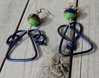 Christmas Earrings, Angel Earrings, Wire Earrings, Aluminum Earrings, Handmade Earrings, Christmas Gift, Gift for Her,