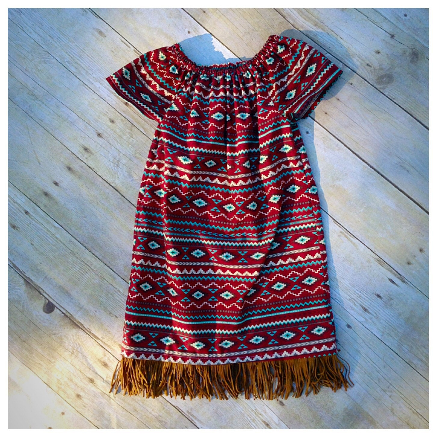 Girls peasant dress girls clothing fringe dress birth