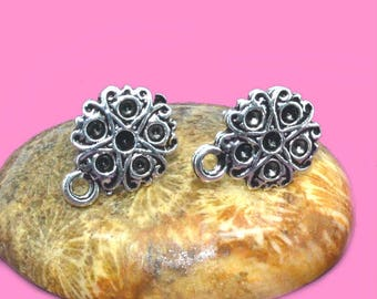Supports earrings silver 10mm posts