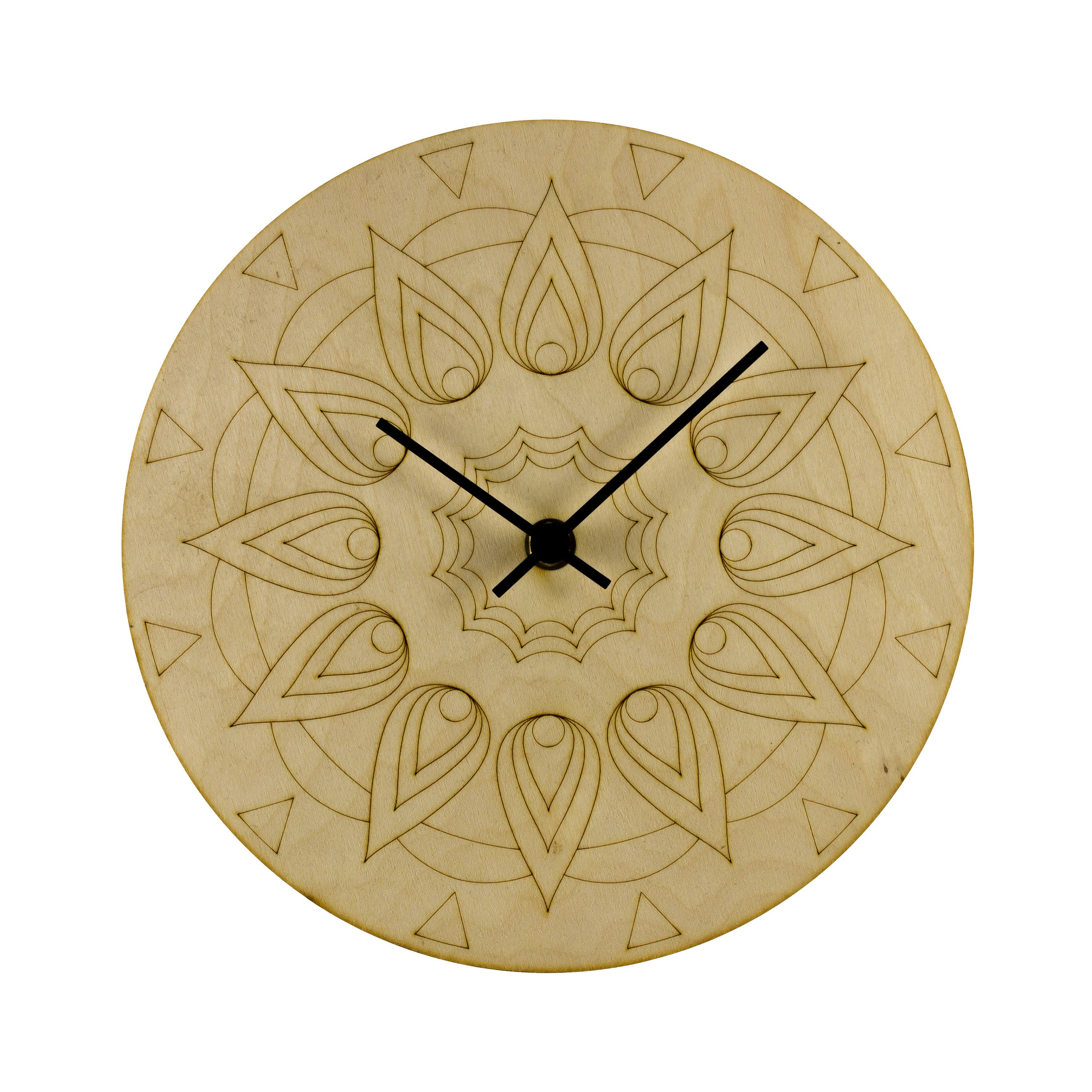 Mandala wooden wall clock Wall Art Home decor Unique
