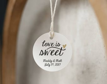 Wedding favor tags Etsy