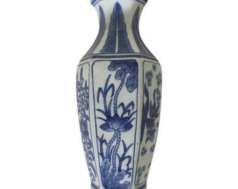 Blue and White Porcelain Wall Pocket