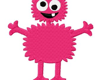 Crazy Monster Embroidery Design - Instant Download