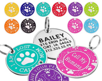 Dog Tag, Personalized Dog Tag, Custom Dog Tag, Dog Id Tag, Engraved Dog Tag