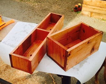 Small Redwood planter boxes