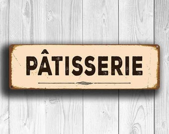 PATISSERIE SIGN, Patisserie Signs, Patisserie Decor, Bakery Sign, Vintage Style Patisserie Sign, Bakery Decor, Kitchen Decor, Kitchen Signs