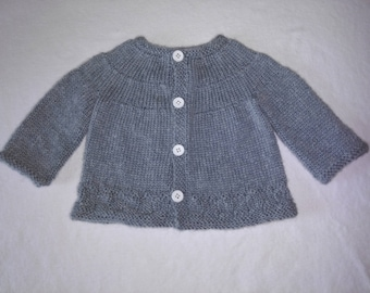 Knit baby sweater 0-3 months