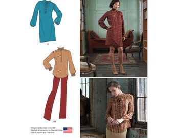 OUT of PRINT Simplicity Pattern 8166 Misses' Blouse, Dress, Skirt, and Pants