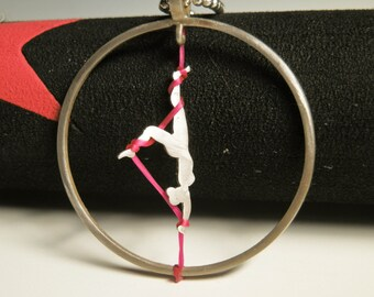 Aerial  silks necklace, aerialist Jewelry, Aerialist gift, circus jewelry
