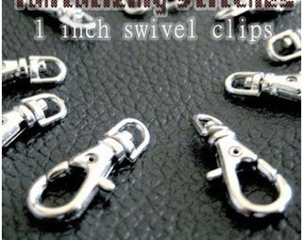 23.5mm / 1 Inch Swivel Clips (available in nickel, antique brass, and gold finish) - Choose from 240, 600, and 1500 pieces