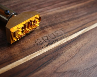 Custom logo Branding Iron with custom stamp with electric heater with power control- 110V or 220V - Delivery worldwide 1-5 days DHL Express