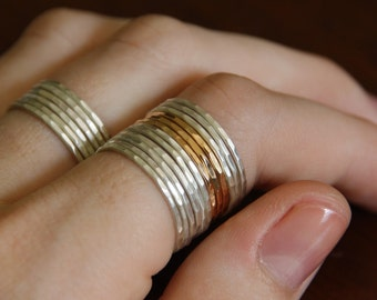 14k gold stackable ring, stacking ring, rose gold white gold yellow gold, eco friendly recycled gold, thin gold ring, gift for her