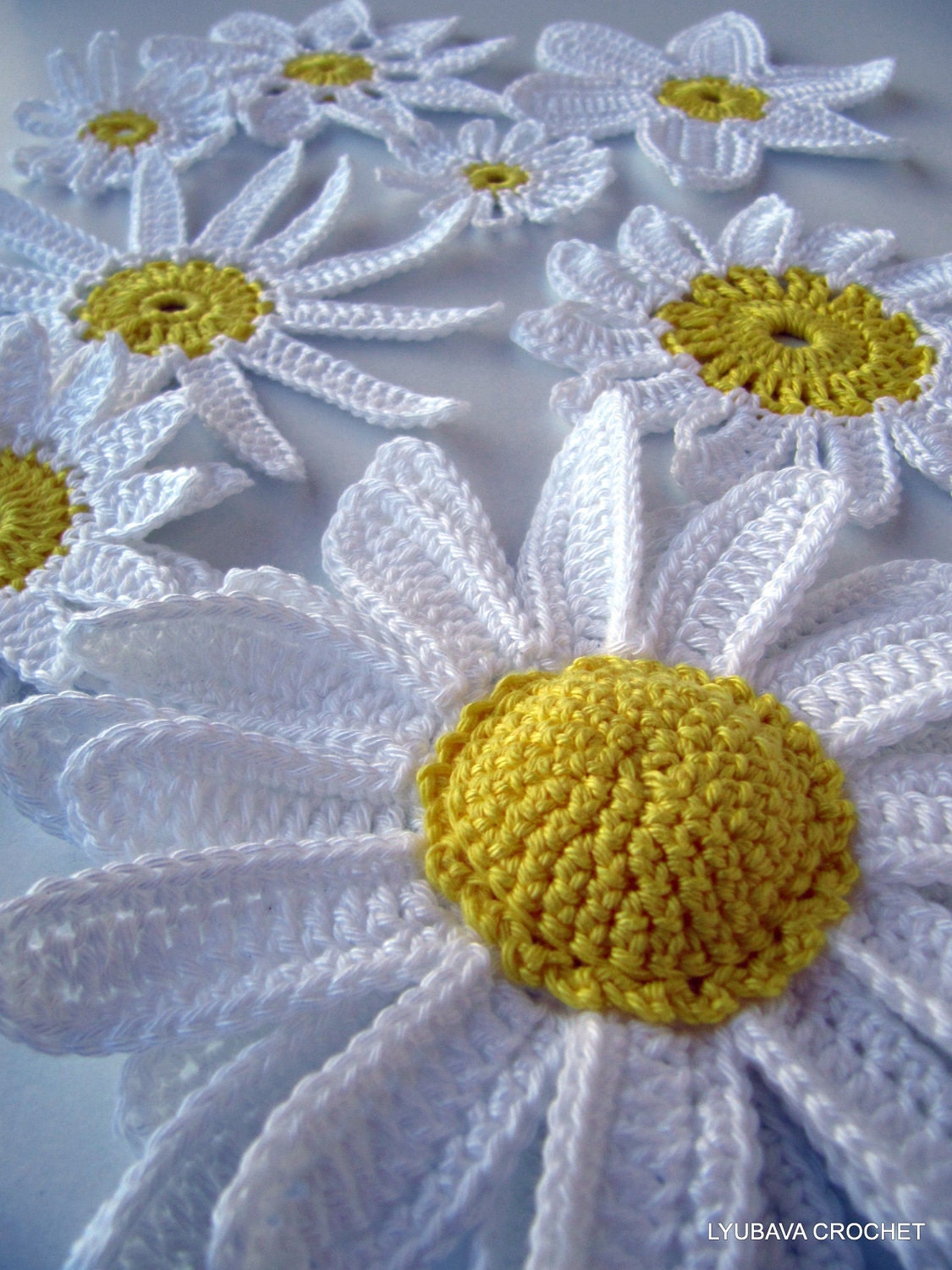 Crochet Flowers PATTERN Daisy Flowers Pattern DIY Crochet