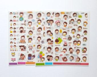6 sheets Daily Life Planner Sticker Pack Journal Sticker Set