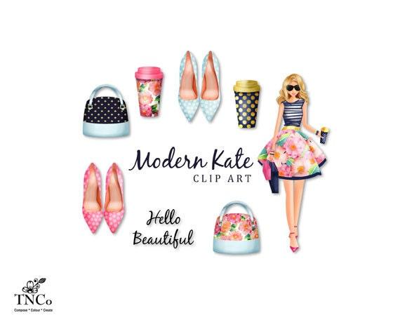 modern clipart fashion clipart floral clipart handbag rh etsy com modern clipart modern clipart
