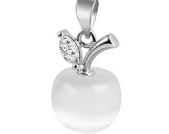 Apple pendant etsy apple pendant apple charm fruit pendant fruit charm white apple white aloadofball Choice Image