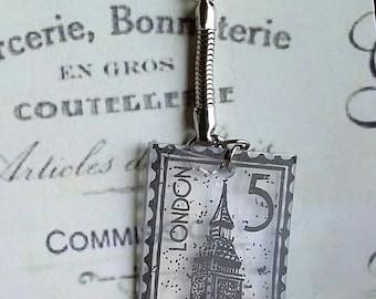 Vintage London Stamp Keychain