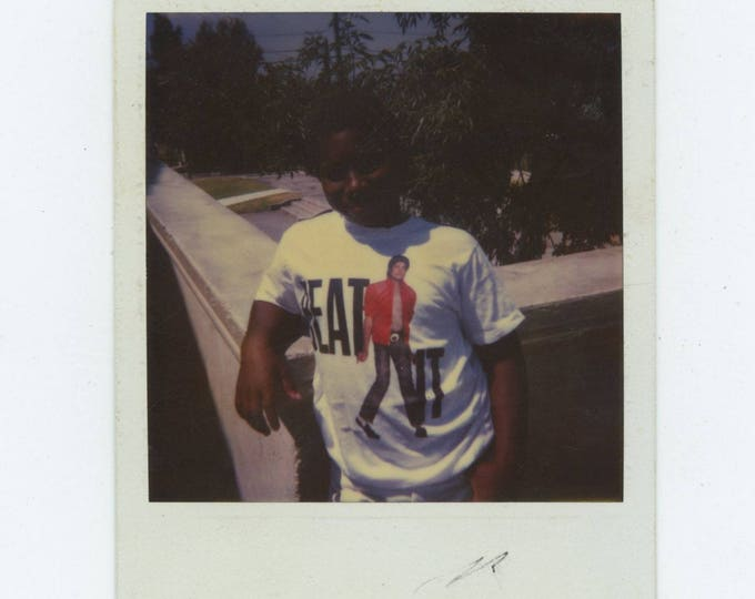"Vintage Polaroid SX-70 Snapshot Photo: ""Beat It"" (783655)"
