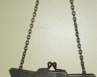Antique 1920/30's Flapper Style German Silver Mesh Purse, Mesh Evening Bag, Mesh change Purse