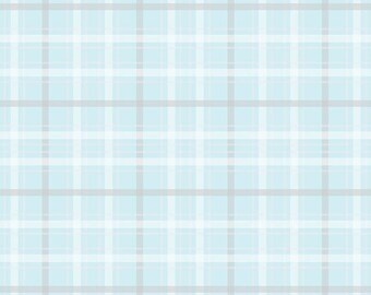 Plaid in Blue from When Skies are Grey by Riley Blake x 25cm