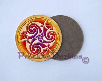 Celtic Trickle set #4 decorative drink coaster. Celtic. Set of 4 coasters