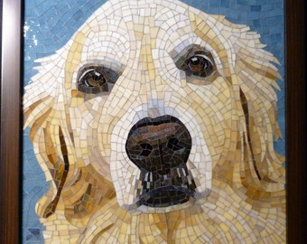 Custom Stained Glass Mosaic Pet Portrait