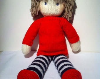 Doll Knitting Pattern pdf Instant download