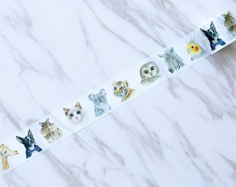 cute Giraffe Washi Tape /animal Washi Tapes/cats washi tape /dogs washi tape /Japanese washi Tape/Decorative Stickers