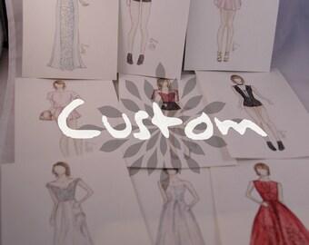 CUSTOM- TS fashion illustration