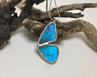 Real Butterfly jewelry, butterfly Wing Necklace, Blue Morpho Pendant, butterfly jewelry, butterfly