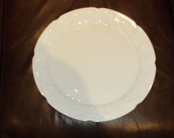 Vintage Milk Glass Serving Platter