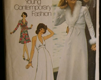 Simplicity 6658  Misses Halter Dress and Jacket Vintage 70s Sewing Pattern Sz 12