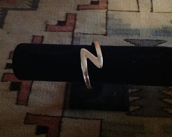 Sterling Silver Lightening Bolt Cuff Bracelet