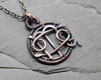 Cancer Scorpio combined zodiac necklace wire wrapped