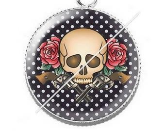 Cabochon skull a7 skull pendant