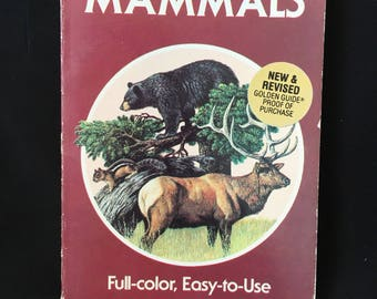 1987 Mammals Guide A Golden Guide vintage book