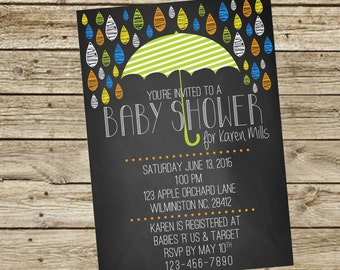 Baby Shower - Umbrella Chalkboard