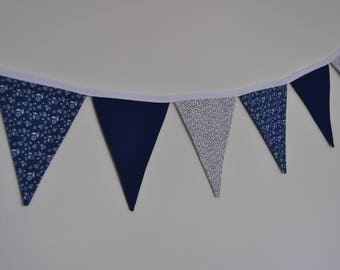 Navy and White 2m bunting