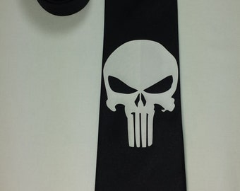 Punisher Mens NeckTie