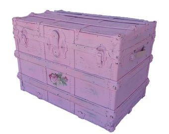 Shabby Chic Vintage Pink Trunk