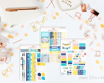 Bon Voyage MINI Weekly Kit // 130+ Matte Planner Stickers // Perfect for your Personal Planner // WKM0690