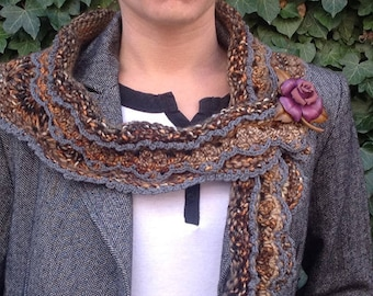 """retro style collar, hand knitted, collection """"Variation"""""""