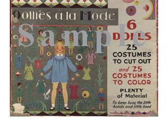 Paper Dolls _ Vintage Dollies a la Mode Paper Doll _ Eloise Wilkins _ PDF Book _ Digital Download _ Paper Art Dolls + BONUS Booklets