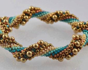 Arizona Desert Bead Crochet Bracelet Pattern - Instructions for bracelet and Hints doc included